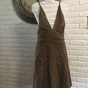 DKNY halter style polka dot dress